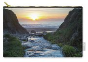 End Of The Road - Creek Runs Into Pacific Ocean At Big Sur Carry-all Pouch