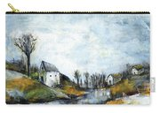 End Of Winter - Acrylic Landscape Painting On Cotton Canvas Carry-all Pouch