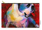English American Pop Art Bulldog Print Painting Carry-all Pouch