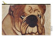 English Bulldog Coffee Painting Carry-all Pouch