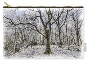 English Forest Snow Art Carry-all Pouch