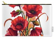 English Poppies 2 Carry-all Pouch