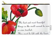 English Poppy   Poem Carry-all Pouch