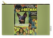 English Toy Terrier Art Canvas Print - Batman Movie Poster Carry-all Pouch