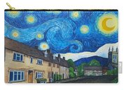 English Village In Van Gogh Style Carry-all Pouch