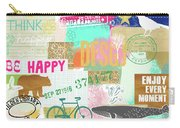 Enjoy Every Moment Collage Carry-all Pouch