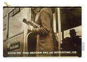 Enjoy Your War Work - London Underground, London Metro - Retro Travel Poster - Vintage Poster Carry-all Pouch