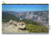 Enjoying At Yosemite Summit Carry-all Pouch