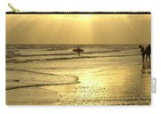 Enjoying The Beach At Sunset Carry-all Pouch