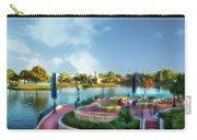 Enjoying The Shade World Showcase Lagoon Walt Disney World Carry-all Pouch