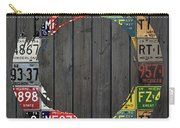 Enso Symbol Recycled Vintage Michigan License Plate Art Carry-all Pouch