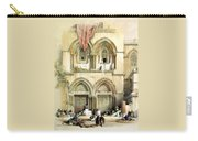 Entrance To Church Of The Holy Sepulchre Card Carry-all Pouch