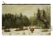 Entrance To The Forest In Winter Carry-all Pouch by Cherubino Pata