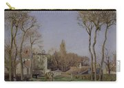Entrance To The Village Of Voisins Carry-all Pouch by Camille Pissarro