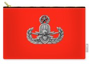 Eod Master Badge Emblem On Red Carry-all Pouch