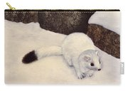 Ermine In Winter Carry-all Pouch