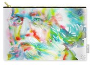 Ernst Haeckel - Watercolor Portrait Carry-all Pouch