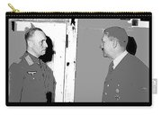 Erwin Rommel Adolf Hitler Circa 1941 Color Added 2016 Carry-all Pouch