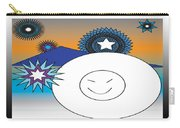 Eskimo And Snowflakes Graphic Carry-all Pouch
