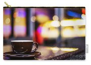 Espresso Coffee Cup In Cafe At Night Carry-all Pouch