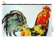 Essence Of Rooster Carry-all Pouch by Monique Faella