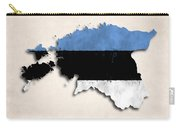 Estonia Map Art With Flag Design Carry-all Pouch