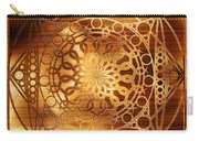 Eternity Mandala Golden Zebrawood Carry-all Pouch