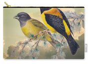 Ethereal Birds On Snowy Branch Carry-all Pouch
