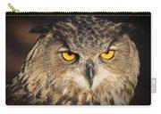 Eurasian Eagle Owl Portrait Carry-all Pouch
