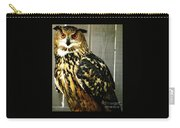 Eurasian Eagle-owl With Oil Painting Effect Carry-all Pouch