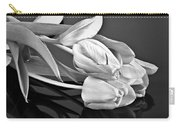 Even Tulips Are Beautiful In Black And White Carry-all Pouch