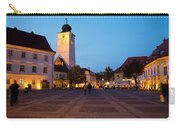 Evening In Sibiu's Grand Square Carry-all Pouch