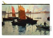 Evening Light At The Port Of Camaret Carry-all Pouch