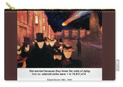 Evening On Karl Johan Street 1892 Carry-all Pouch