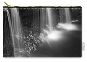 Evening Plunge Waterfall Black And White Carry-all Pouch
