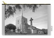 Evening Prayers In Black And White Carry-all Pouch