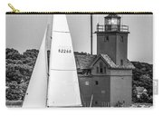 Evening Sail At Holland Light - Bw Carry-all Pouch