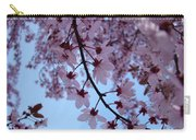 Evening Sky Pink Blossoms Art Prints Canvas Spring Baslee Troutman Carry-all Pouch