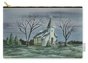 Evening Worship In Winter Carry-all Pouch