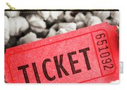 Event Ticket Lying On Pile Of Popcorn Carry-all Pouch
