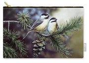 Evergreen Chickadees Carry-all Pouch
