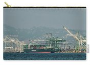 Evergreen Freight Ship And Cargo In Port Of Oakland, California Carry-all Pouch
