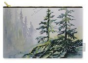 Evergreens In The Mist Carry-all Pouch