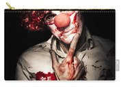 Evil Blood Stained Clown Contemplating Homicide Carry-all Pouch