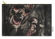 Evil Male Zombie Screaming Out In Bloody Fear Carry-all Pouch