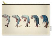 Evolution Of Fish Into Old Man, C. 1870 Carry-all Pouch