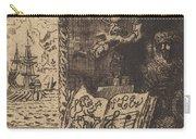 Ex-libris De L?on Lerey (ex-libris Of Leon Lerey) Carry-all Pouch