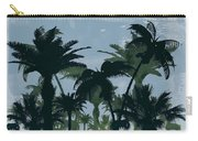 Exotic Palm Trees Silhouettes Water Color Carry-all Pouch