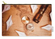Explorer Desk With Compass, Map And Spyglass Carry-all Pouch