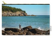 Exploring Rocks At Sand Beach Carry-all Pouch